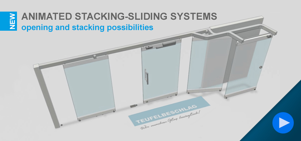 Animated stacking-sliding systems