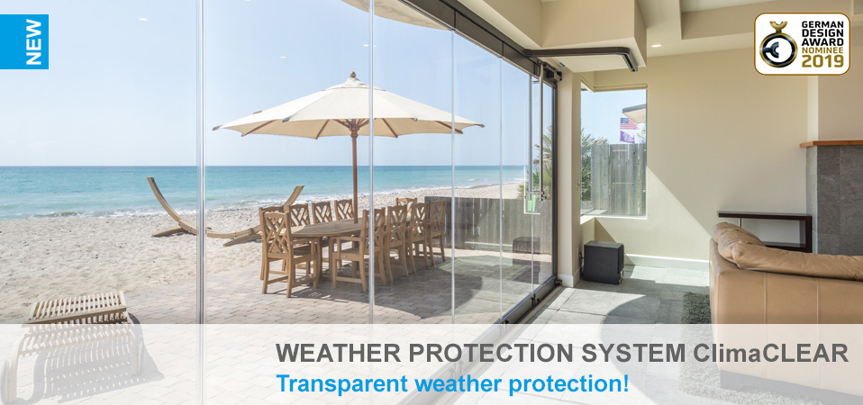 Weather protection system ClimaCLEAR